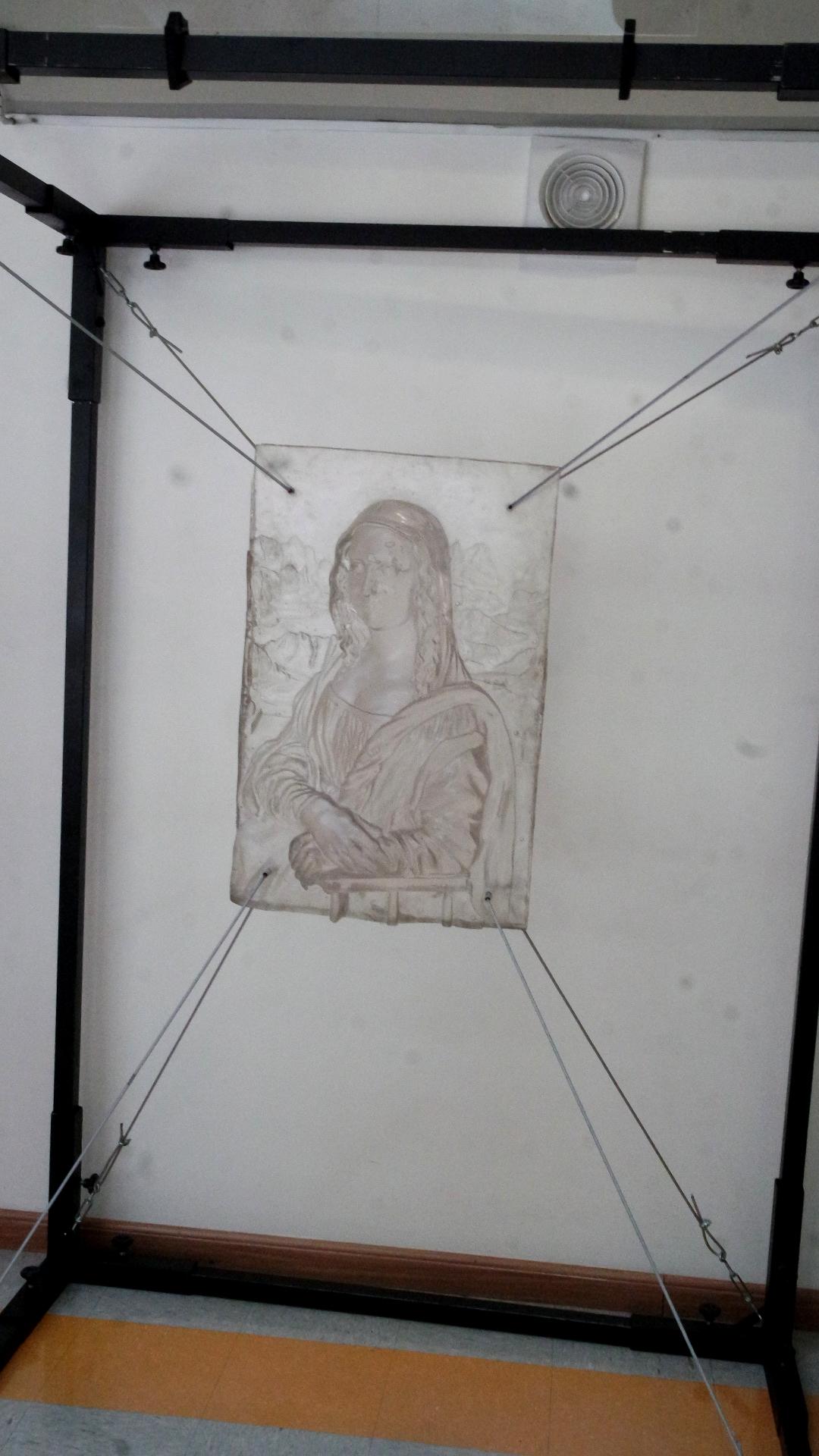 Monalisa em alto relevo, de Marcelo Pasqua